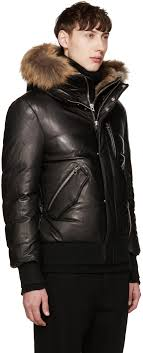 mackage black leather down glen jacket men mackage winter jacket vs usa goose
