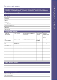 Job Task Analysis Template Job Task Analysis Template 15