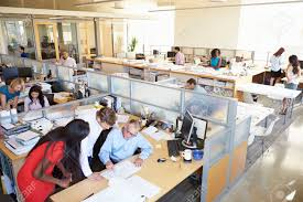 person office desk. delighful person office desk interior of busy modern open plan office stock photo in person desk