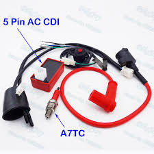 compare prices on motorcycle spark plug wire online shopping buy Spark Plug Wire Harness wiring loom harness kill switch racing ignition coil 5 pin ac cdi a7tc spark plug for jeep patriot spark plug wire harness