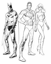 Small Picture Coloring Pages Of Batman And Superman Coloring Pages