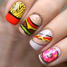 Fast Food Nail Designs Cute Fast Food Nail Art Food Nail Art Simple Nail Art