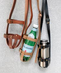 pu leather bottle holder as the belt part fixing a bottle is available for a fine