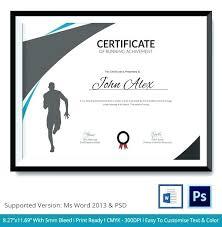 Fun Run Certificate Template News Certificate Of Participation Sample Content New Sample