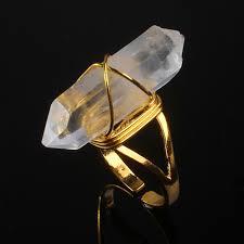<b>100 Unique 1 Pcs</b> Light Yellow Gold Color Wire Wrap Rock Crystal ...