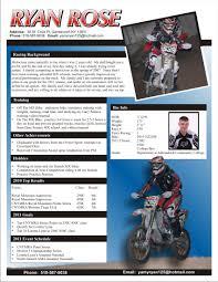 Ryan Rose Racing Apparel Sponsorship Resume The Graphic Details