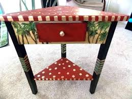small corner accent table with drawer white oak image of decor ideas cor kitchen glamorous
