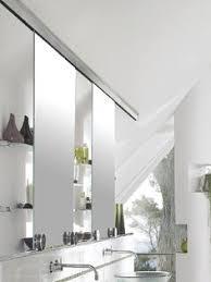 sliding bathroom mirror: terra style of stainless steel door hardware create sliding mirror requires top tracks