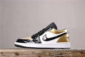 Women Men Best Air Jordan 1 Low Gold Toe Price 7 139