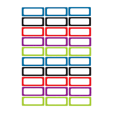 Solid Color Border Small Magnetic Nameplates Labels