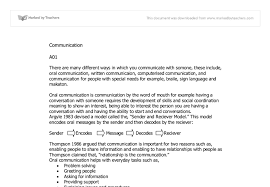 health and social care a unit communication university document image preview