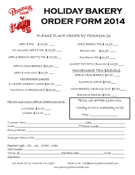 pie order form template 14 bakery order forms free pdf format