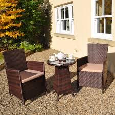 contemporary rattan bistro 2 seater garden patio set
