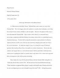 Essay Assignment Examples Visual Rhetoric Ssay Outline Rhetorical Analysis Xample