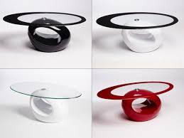 designer oval coffee table contemporary
