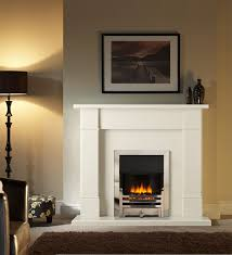 gallery collection bromley inset electric fire with rydal micro marble fireplace