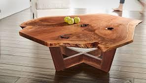 david stine walnut live edge coffee table