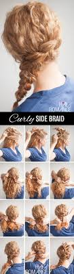 hairstyles for curly hair step by step curly side braid hairstyle tutorial hair
