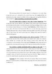 opinion essay for internet the advantages and disadvantages of the internet essay