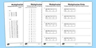 Multiplying 3 Digit Numbers By 1 Digit Numbers Using Grid