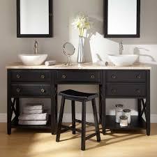 open bathroom vanity cabinet: bathroom affordable double vanities with stylish design sink vanity black wooden base open bathroom sets