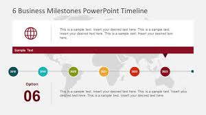 6 Business Milestones Powerpoint Timeline Slidemodel