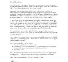 Cover Letter Examples Goldman Sachs Tomyumtumweb Com