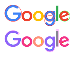 google logo. google\u0027s new logo overlaid with circles (top) and futura (bottom) google