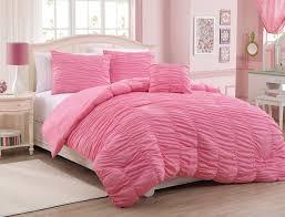 image of modern pink comforter twin