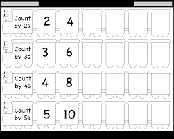Counting By 3 Chart Skip Counting By 2 3 4 And 5 Worksheet Free Printable