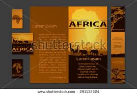 Africa Brochure Template Africa Travel Design Template Stock ...