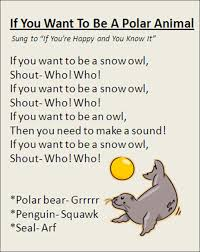 Small Picture If You Want To Be A Polar Animal song great for Winter time