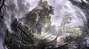 viking on the defeated dragon wallpapers and images wallpapers pictures photos