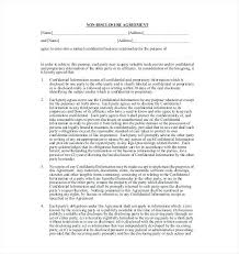 Simple Nda Template Free Non Disclosure Agreement Templates Free Sample Example Nda Template