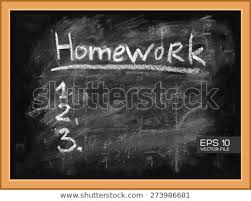 Homework To Do List Homework Task Do List 1 2 Stock Vector Royalty Free 273986681