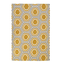 hicks and hicks hampstead yellow white grey geometric rug hicks hicks