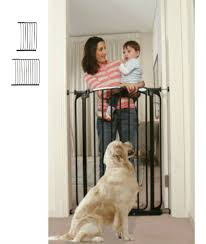 Extra Tall Swing Close Baby Gate Plus 24.5 and 39 – Black (39.4H, 93 ...