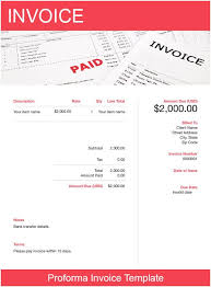 Proforma Invoice Template Free Download Send In Minutes