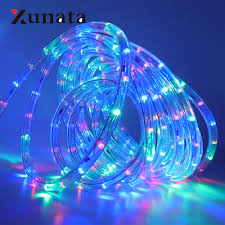 2 Wire Led Lights Us 4 5 30 Off Ac220v 110v Round 2 Wire Neon Strip Led Strip Waterproof Neon Sign Led Light Christmas Outdoor Rainbow Tube Rope Light Led Strip In