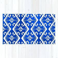 blue ikat rug threshold west elm adira