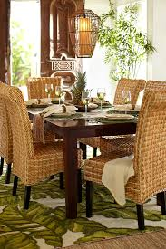 open up your dining room and let a relaxing west ins vibe bring a breath of fresh air to your table with hand woven banana seating natural placemats and