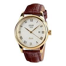 civo men s genuine brown leather band wrist watch civo men s genuine brown leather wrist watch