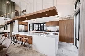 large kitchen island for white chandelier idea cream tile backsplash steel single handle faucet rectangle brown fabric barstools