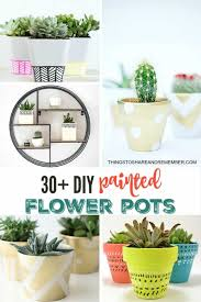 30 diy painted flower pots craft ideas and tutorials