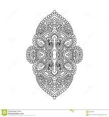 Vector восточный орнамент этническая Zentangled татуировка хны