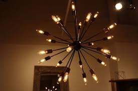 starburst black chandelier