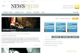 Website Template Newspaper Online News Website Template
