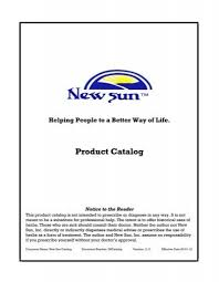 catalog new sun