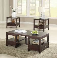 brooklyn espresso coffee table and end table set contemporary complements room craftman occasional brown versatile plenty