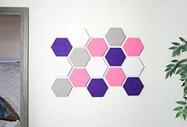 Cute Memo Boards Simple Amazon Cork BoardMemo Board Of Hexagon Felt Pads Purple